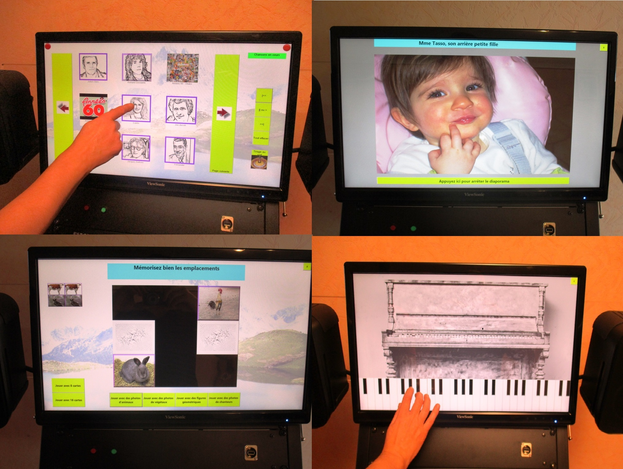 Borne musicale tactile mobile volutive pour animation for Animation musicale maison de retraite