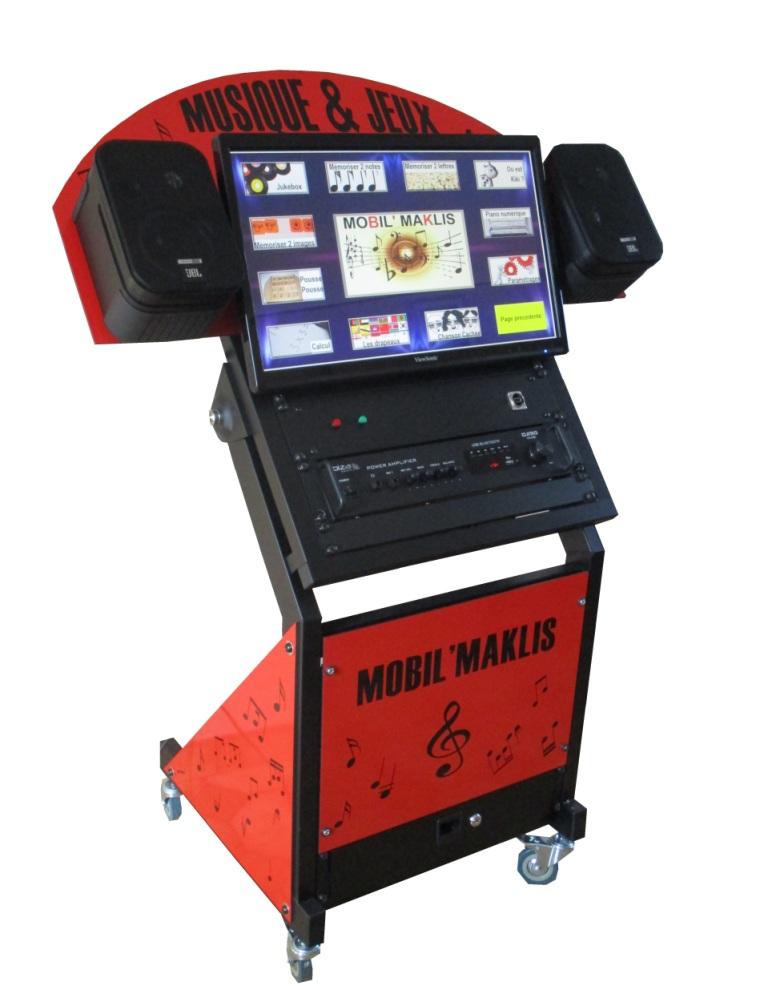 borne musicale tactile mobile